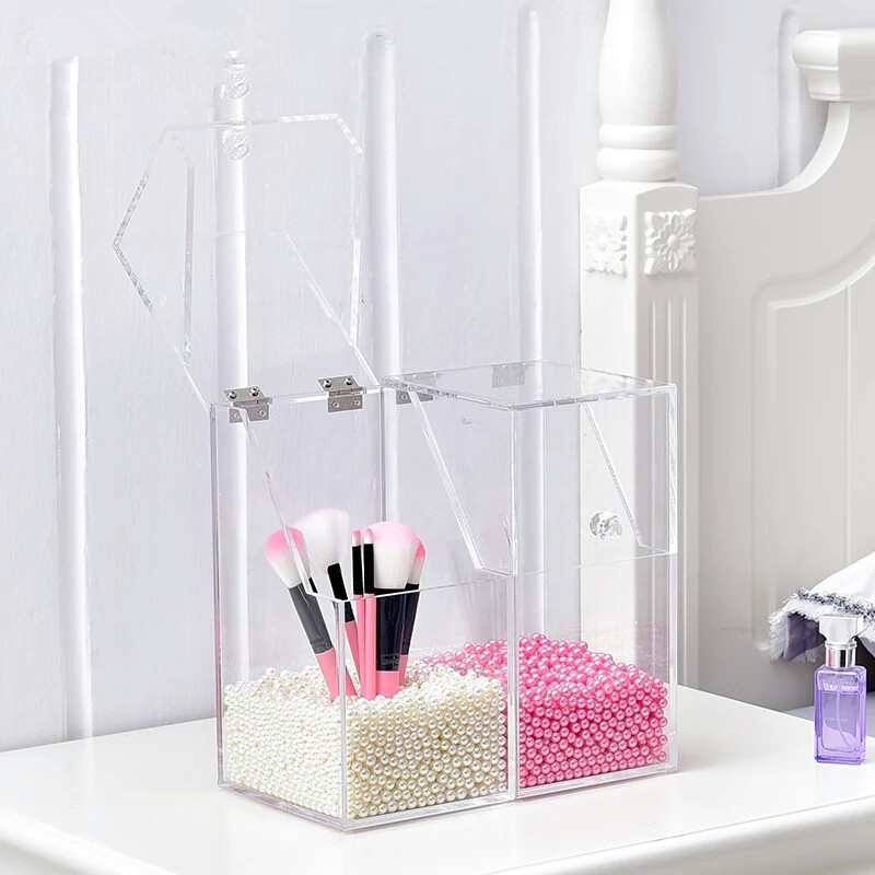 acrylic makeup brushes holder