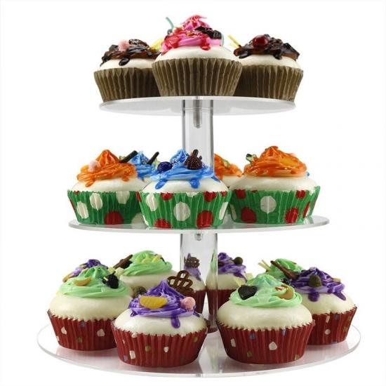 Quadratische Acryl Cupcake Stand Turm Hochzeitstorte Stehen
