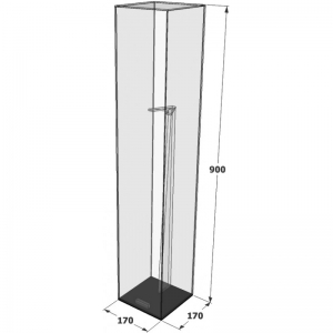 Acryl Cricket Fledermaus Vitrine